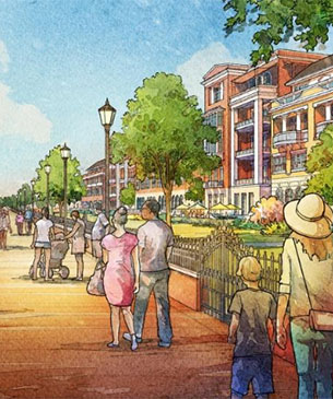 Eastern Wharf Savannah color rendering