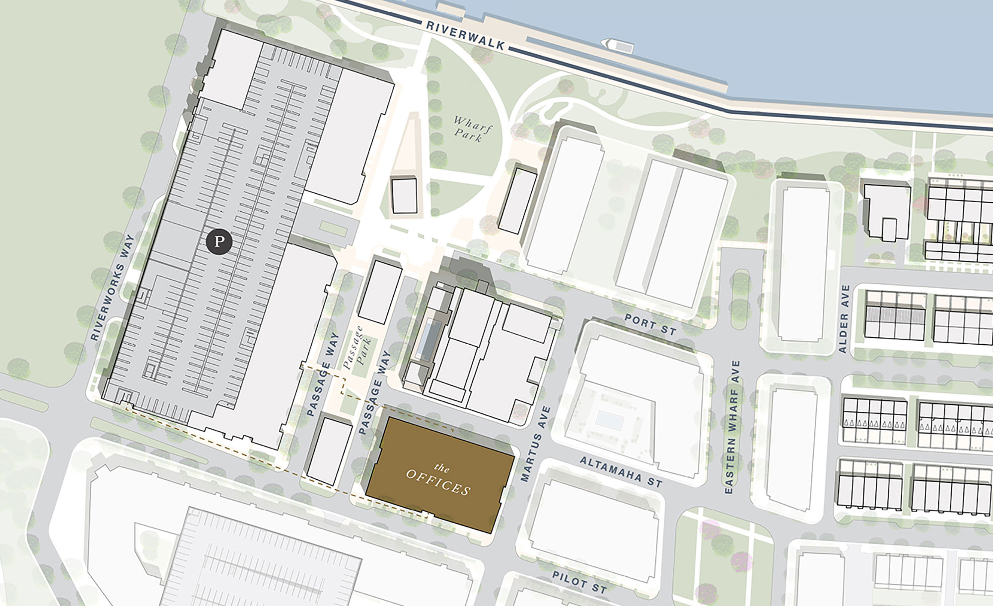 Offices at Eastern Wharf Site Plan