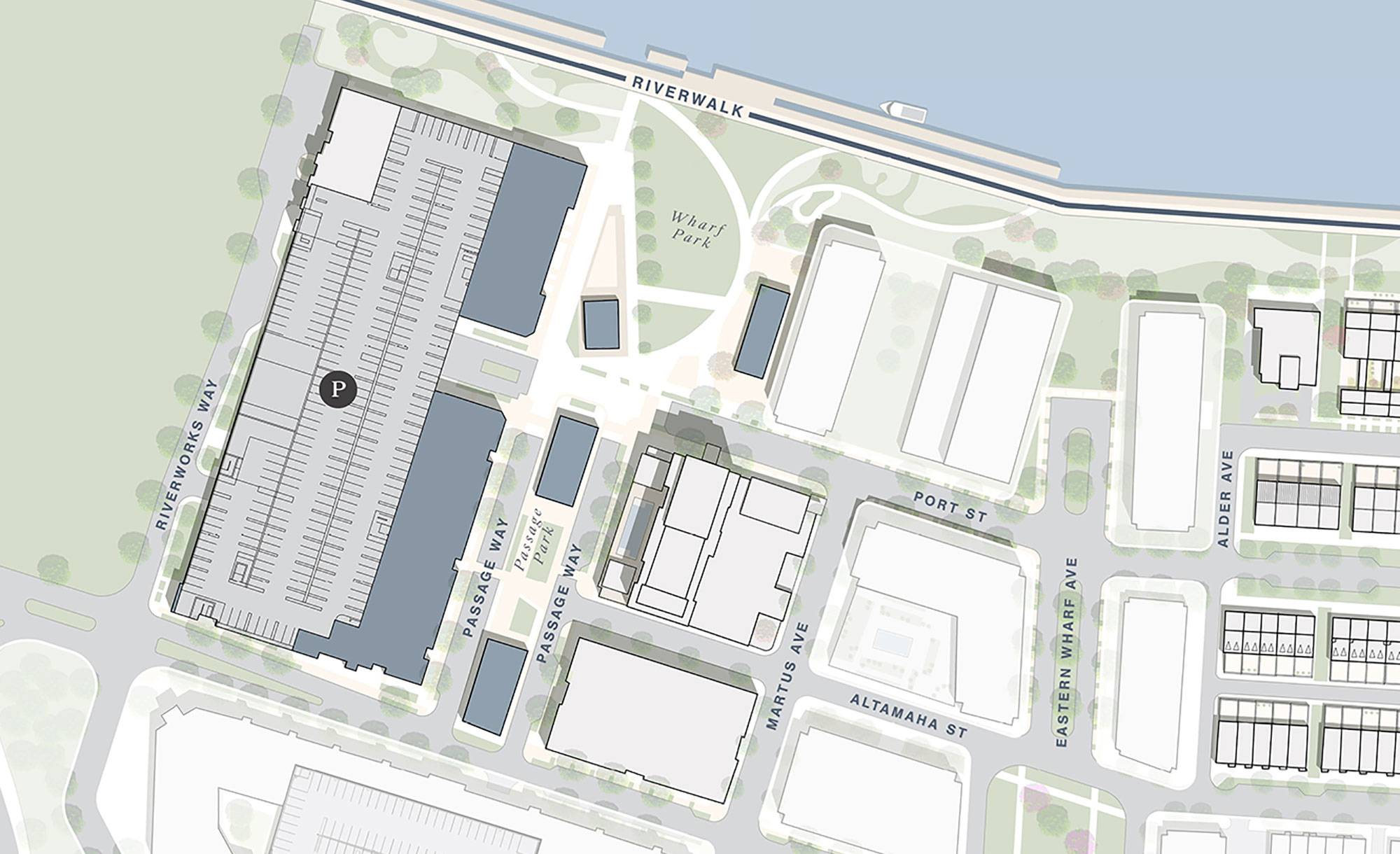 Eastern Wharf Savannah Retail & Restaurants Site Plan