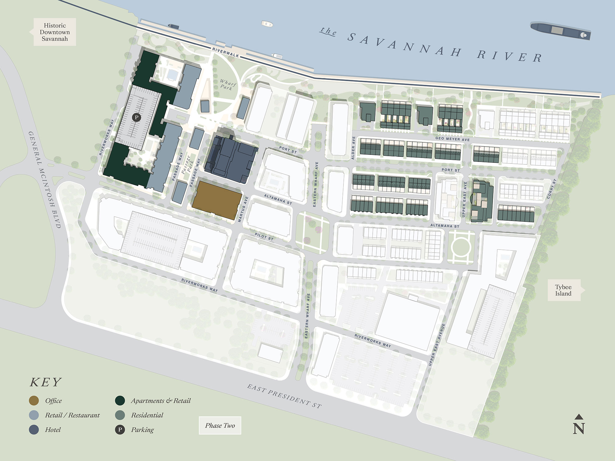 Eastern Wharf Savannah Site Plan